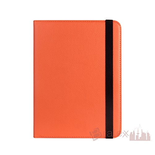 BRALEXX Universal Rotation Tasche passend für Huawei MediaPad M1 8.0, 8 Zoll, Orange