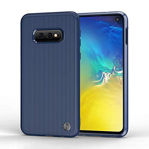 Wareba Hülle für Samsung Galaxy S10e Hülle,TPU Case Ultradünn Handyhülle Silikon Bumper Cover Tasche mit Stoßdämpfung & Carbon Faser Handyhülle für Samsung Galaxy S10e-Blue