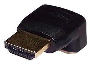 Lineaire ADHD201B Adaptateur HDMI coudé bas mâle/femelle Noir