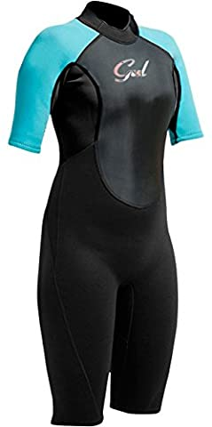 Gul Response Toddler 3/2mm Shorty Wetsuit Black/Turquoise RE3321 Junior Sizes - JUNIOR MEDIUM