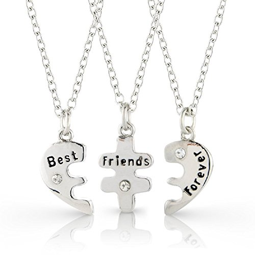 3 Bestfriends necklace set, Best Friends Forever