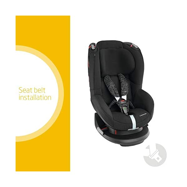 Maxi-Cosi Tobi Toddler Car Seat Group 1, Forward-Facing Reclining Car Seat, 9 Months-4 Years, 9-18 kg, Black Grid Maxi-Cosi Toddler car seat suitable for children from 9 to 18 kg (approximately 9 months to 4 years) Install theMaxi-Cosi Tobi car seatusing the car's seat belt and the integrated belt tensioner ensures a solid fit Spring-loaded, stay open harness to make buckling up your toddler easier as the harness stays out of the way 2