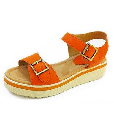 LvYuan Da donna Sandali Comoda PU (Poliuretano) Primavera Casual Comoda Arancione Giallo Piatto Orange