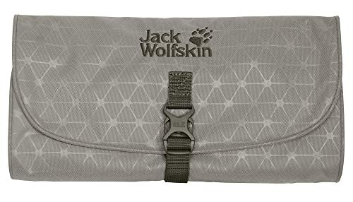 Jack Wolfskin WASCHSALON Kulturtasche, 32 cm, Clay Grey Grid