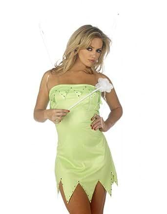 Sofias Closet Womens Ladies Tinkerbell Fancy Dress Halloween Costume Fairy Plus Size UK 6 - 20
