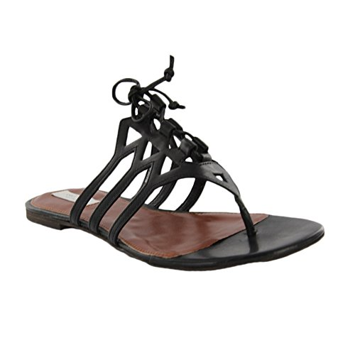 Cole Haan Claudia Flat Sandal Black Leather