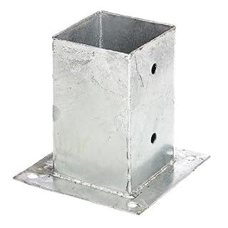 GAH-Alberts 211639 Aufschraubhülse für Vierkantholzpfosten - feuerverzinkt, 91 x 91 mm