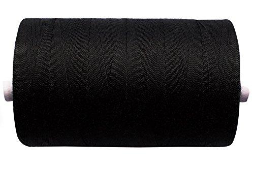 Nähgarn - Industriequalität - 80-er Stärke - 1 Rolle - Lauflänge 1000 Meter - 5 Farben (schwarz) -