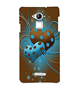 printtech Love Heart Abstract Back Case Cover for Coolpad Note 3