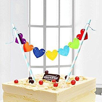 Mignon, joyeux, anniversaire, partie, décoration, gâteau, topper, Bunting, ensemble, enfants (b)