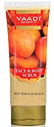 Vaadi Herbals Face and Body Scrub with Walnut and Apricot, 110g