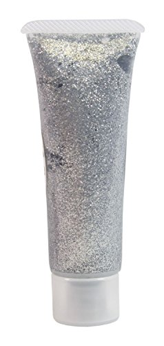 Effekt Glitzergel, silber, 18 ml (Halloween Make Up Effekte)