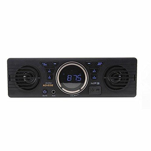 NICOLIE Av252 12V Coche Estéreo Tarjeta SD Mp3 Receptor De Audio Altavoz Incorporado Altavoces Bluetooth...