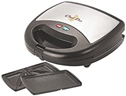 Chef Pro CPS822 2-in-1 Sandwich Maker and Grill (Black)