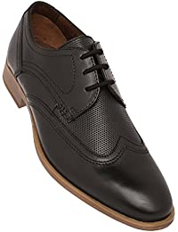 Venturini Mens Leather Lace Up Derby - B078PH5WJT