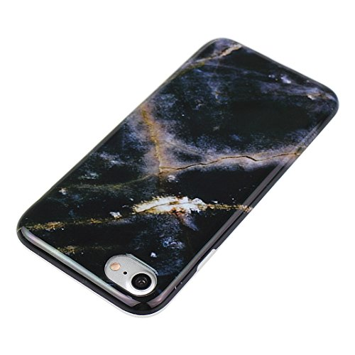 iPhoen 8 / 7 Back Case, iPhone 7 Hülle Marmor, iPhone 8 Handyhülle Marmor, iPhone 7 Kratzfeste Hülle, Moon mood® Soft Hülle für Apple iPhone 7 / 8 4.7 Zoll Ultra Thin Dünn TPU scheuern Weich Fall Schu Marmor 2