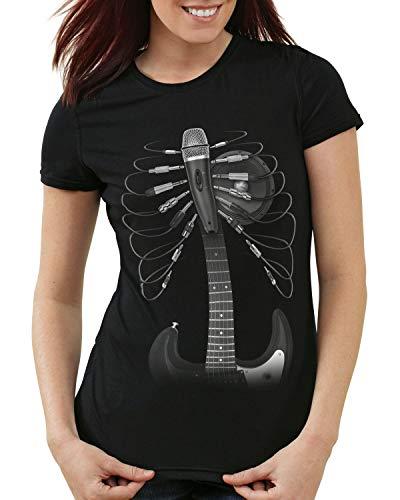 style3 Audiophil Damen T-Shirt tontechnik Klang lied, Größe:S - Audiophile Open-air