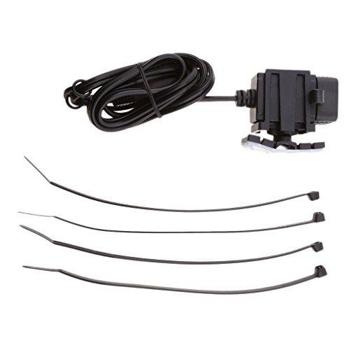 Preisvergleich Produktbild Sharplace 12v Motorrad Dual Port SAE zu USB-Adapter Dual USB Port Ladegerät für Motorrad