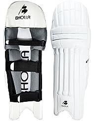 Espinilleras para bateador de críquet Umair, Test estándar, peso ligero del tamaño de la, diseño único, Hombres diestros