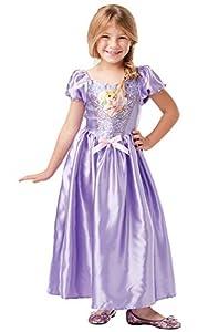 Rubies 641034 Disfraz oficial de princesa Disney Rapunzel clásico de lentejuelas, para niños de 9 a 10 años, altura 140 cm, niñas, multicolor