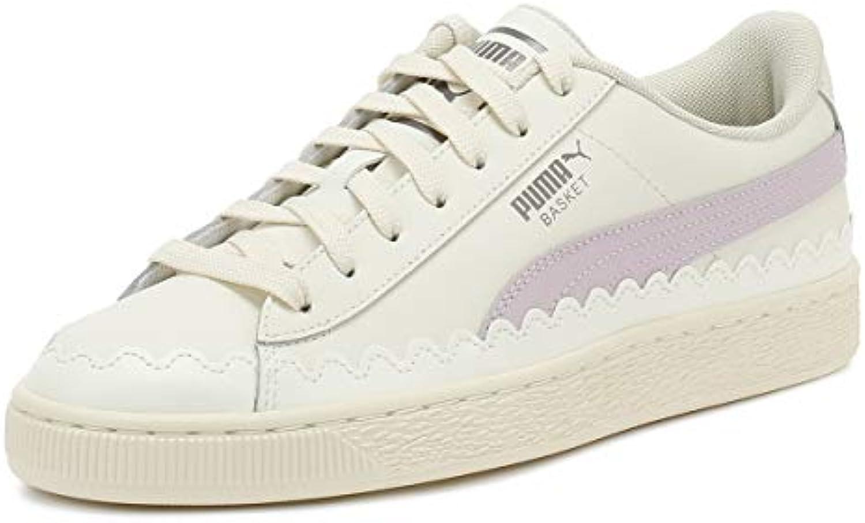 Puma Donna Whisper Bianco Gommaized Basket scarpe da ginnastica   La Qualità Del Prodotto    Scolaro/Ragazze Scarpa