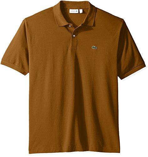 X-Small-Dark-Renaissance-Brown-Lacoste-Mens-Short-Sleeve-Pique-L1212-Classic-Fit-Polo-Shirt-Past-Season