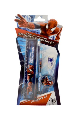 SpiderMan 5 pezzi set di cancelleria