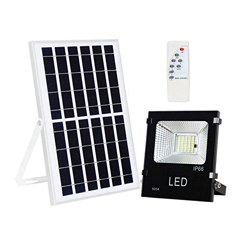 QJXF Solar Flood Light,90 LEDs 3000LM 60W IP65 Wasserdichte Outdoor-Sicherheit Flutlicht-Fernbedienung + Lichtsteuerung-Timed-Helligkeit einstellbar -für Garten Farm Shed Camping Garage -