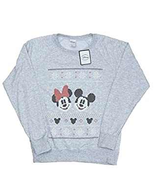 Disney Women's Mickey And Minnie Mouse Christmas Sweatshirt