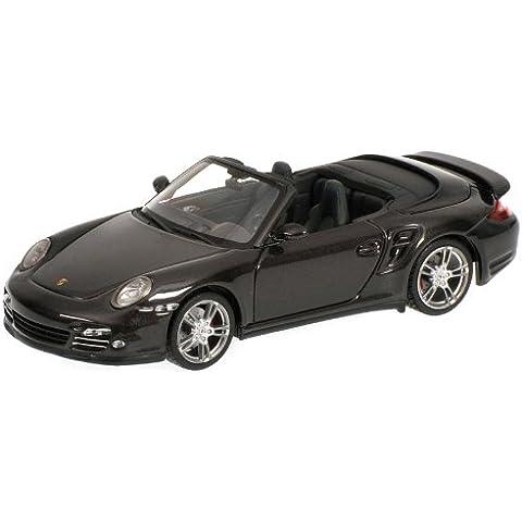 Minichamps 519436930 - Coche de colección Porsche 911 Turbo (997 II) 2009, Gris metalizado - escala 1/43