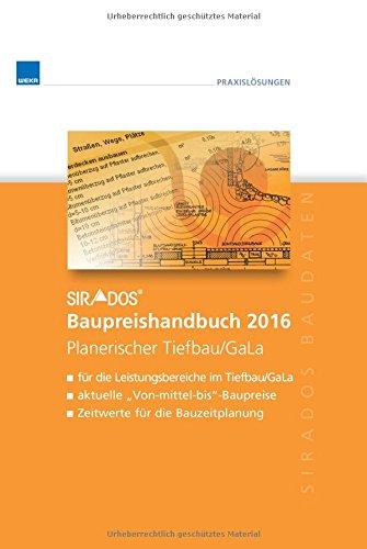 sirAdos-Baupreishandbuch 2016: Tiefbau/Gartenlandschaftsbau