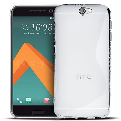 Conie Rückschale für HTC One A9 - Silikon Schutzhülle im S-Line Design Hülle aus TPU, Kratzfest Kantenschutz, One A9 Handyschale