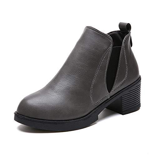 Damen Schneestiefel SHOBDW Frauen Winter Stiefeletten Stiefel mit niedrigem Absatz Mode Stiefel...