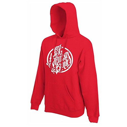 187 Straßenbande - Logo Hoodie rot/weiß (L)