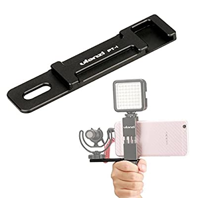 Metal Phone Tripod Mount with Hot Shoe Mount-Ulanzi Smartphone Holder Video Rig Tripod Mount Adapter - with Hand Grip