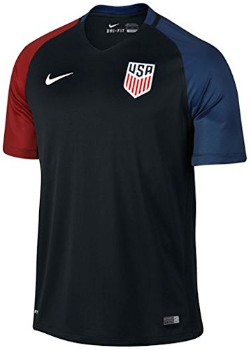 Nike Youth United States Away Stadium Soccer Jersey (Black) (Small) (Youth T-shirt State)