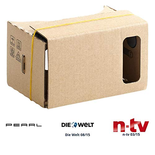 "PEARL VR-Überbrillen: Virtual-Reality-Brille VRB55.3D, Bausatz für Smartphones (5"" - 5,5"") (3D-Brillen Virtual Reality)"