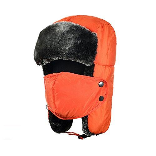 Tofern Unisex Winter Russian Style Waterproof Plush Ear Flap Trapper