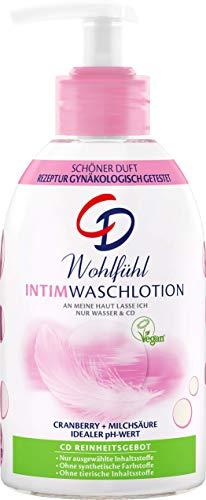 CD Wohlfühl Intim Waschlotion, zur milden Reinigung des Intimbereichs, mit Cranberry-Extrakt & Milchsäure, vegan, seifenfreie Körperpflege, 6 x 250 ml