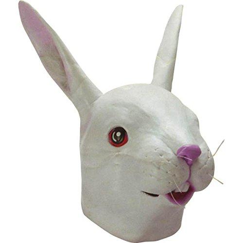 Maske Hase, Latex, weiß ()