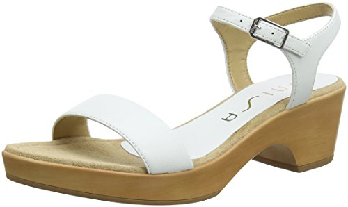 Alla Donna Irita Unisa bianco Caviglia Cinturino Sandali 18 na Bianca nxXUSUFZ0