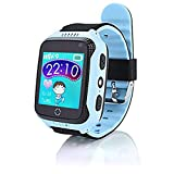damai-shop Kinder Smart Watch, GPS, Telefon, Sprachnachric (Blaues DS)