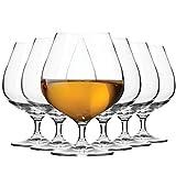 Krosno Bicchiere Cognac Brandy Vetro | Set di 6 | 550 ML | Harmony Collection | Ideale per la Casa, Ristorante Feste e Ricevimenti | Adatto alla Lavastoviglie