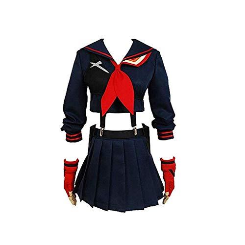 Lilongjiao Halloween Mädchen Kampfanzug Ryuko Matoi Kleid Outfit Cosplay Kostüm (Size : S)