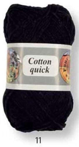 Grundl 865 11 - gomitolo in cotone per lavorare a maglia, colore: nero, peso: 50 g