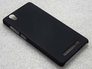 SDO Luxury Matte Finish Rubberised Slim Hard Case Back Cover for Gionee F103 - Black + Micro USB OTG Cable + Nano Sim Adapter Combo Set