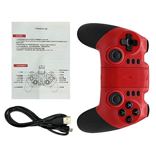 Yao Wireless Bluetooth Game Pad Game Controller Joystick for Android Phones Red