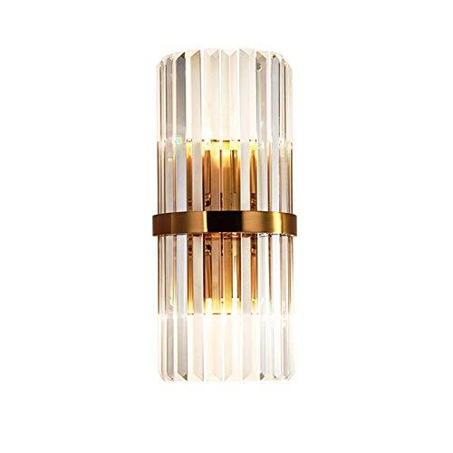 Aione Elegante dekorative Chrom Wohnzimmer Nacht Kristall Lampe mit Schatten für Schlafzimmer Wohnzimmer Couchtisch Bücherregal (Farbe: warmes Licht)