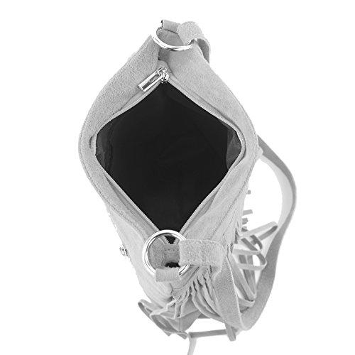 Borsa a mano borsa a tracolla shopping bag donna in vera pelle italiana T02 T145 Rot