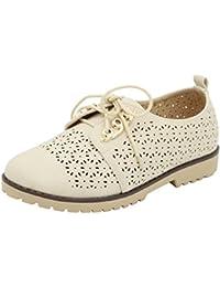 AgeeMi Shoes Mujeres Zapatos de Cordones Slip on Mocasines Casuales Zapatos